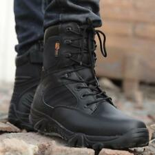 Tactical Outdoor Army Boots Mens Military Combat Desert Boots Black/Sand Boots