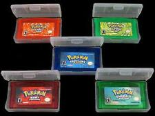 5PCS Game Card Pokemon Games Emerald Ruby Sapphire Firered LeafGreen