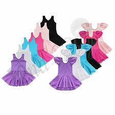 Girl Kid Tutu Ballet Leotard Dance Dress Ballerina Dancewear Unitards Costume