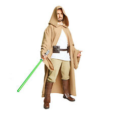 JEDI Obi Wan Wizard Costume STAR WARS CLOAK MONK Adult Robe Desert Khaki Taupe