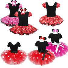 Babies Girls' Minnie Mouse Princess Role Play Costume Fancy Tutu Dress &Headband