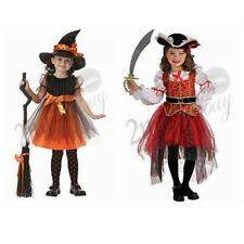 Girls Pirate Witch Halloween Costume Outfits Party Fancy Dress Up Clothes Kids