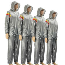 L~3XL Hooded Fitness Loss Weight Sweat Suit Sauna Workout Suit Exercise Gym