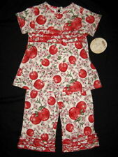 NWT $68 Boutique Tralala APPLE BLOSSOM 2 2T 3 3T Knit Set Outfit Flower Floral