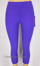 NEW LULULEMON Wunder Under Crop Roll Down 8 Bruised Berry NWT FREE SHIP