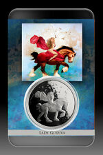 STEVE FERRIS *LADY GODIVA* 1 OZ SILVER COIN PROOF NUMBERED-SPECIAL ART SLAB