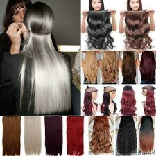 UK Natural 100% Real Clip In Hair Extensions 1Pcs 3/4Full Head Hair Extensions