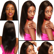 1B Black Women Ladies Lace Front Wig Real Remy Human Hair Wigs Brazilian Hair M3