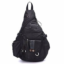 DDDH Large Sling Bags Crossbody Backpack 14.1-Inch Chest Daypack Travel Bag Book