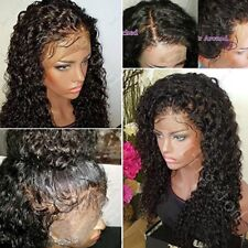 Deluxe Real Human Hair Lace Front Wig Full Lace Wigs Natural Pre Plucked Hair h2
