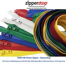 YKK Fashion Trends Zippers Sport #5 Vislon Jacket Medium Weight Molded Plastic