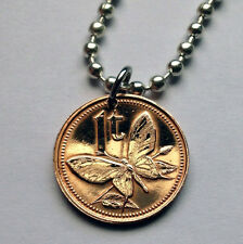 Papua New Guinea Toea coin pendant Birdwing Swallowtail butterfly insect n000906