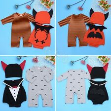 Infant Baby Boy Kids Halloween Cosplay Romper Jumpsuit Bodysuit Clothes Outfits