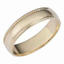 Fremada 14k Yellow Gold 5-mm Milgrain Wedding Band Ring