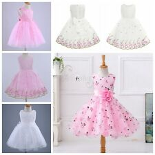 Kids Summer Christening Party Prom Princess Birthday Wedding Flower Girls Dress