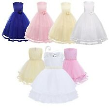 Princess Kids Flower Girls Tutu Dress Wedding Bridesmaid Christening Party Prom