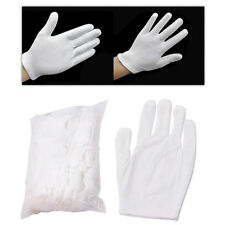 12 Pairs Inspection Cotton Lisle Work Gloves Coin Jewelry Lightweight Striking