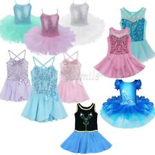 Toddler Kids Girls Gymnastics Ballet Dress Leotard Tutu Skirt Dance wear Clothes
