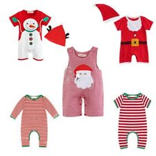 Xmas Baby Boy Girl Toddler Santa Bodysuit Jumpsuit Christmas Fancy Dress Costume