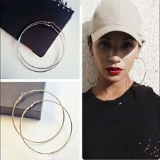 Women Small/Big Circle Round Hoop Dangle Earrings Studs Gold Silver Jewelry Gift