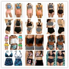 Women's High Waist Bikini Set Push-Up Padded Swimwear Swimsuit Bathingsuit Beach