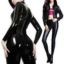 Sexy Womens Faux Leather High Waist Leggings Pants Wet Look Skinny Stretch Pants