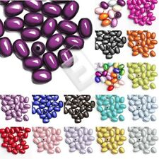 10pcs/25pcs Acrylic Oval Miracle Beads Spacer Loose Illusion 19x13.5mm/11x8mm