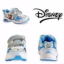 DISNEY FROZEN ANNA & ELSA Girls Sneakers Athletic Shoes NWT Toddlers Size 7 $40