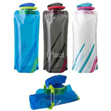 Outdoor 700ml Flexible Collapsible Foldable Reusable Water Bottles Ice Bag CA