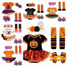 4X Baby Girls 1st Halloween Outfit Romper Tutu Skirt Dress Party Costume Clothes