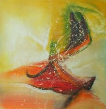 Color Spiral Abstract Background Painted Vibrant Colors Canvas Art Oil Painting