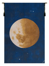 Lune (Moon) Belgian Woven Wall Hanging Home Decor Fine Art Tapestry