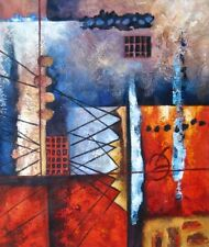 Shard Hand Painted Stretched Canvas Oil Painting Beautiful Abstract Wall Art