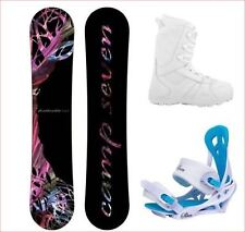 2018 Camp7 Featherlite w Bindings and Boots Womens Complete Snowboard Package