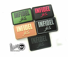 """JTG INFIDEL PVC RUBBER HOOK & LOOP PATCH  ill Gear """"one without faith"""""""