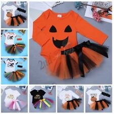 Newborn Baby Girl 1st Birthday Halloween Romper Tutu Skirt Dress Party Outfit