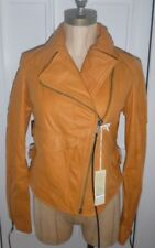 Diesel Womens Burnt Orange Leather  L-Sienna Jacket - new with tags FREE POST UK