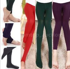 Women Fleece Warm Thick Slim Thick Socks Pantyhose Tights Footless Stirrup L4N7