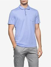 calvin klein mens classic fit slub interlock polo shirt