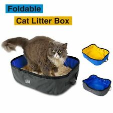 New Portable Travel Large Open Top Pet Cat Kitty Litter Box Self Cleaning House