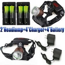 Tactical 20000Lumens Focus LED XM-L T6 LED Headlamp Headlight Lamp 18650+Charger