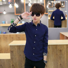 Korean styles cotton shirt Long sleeved Casual Men's Shirts Slim fit
