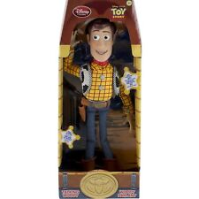 """Disney 16"""" Plush Woody Talking Action Figure Doll Pull String Cowboy Toy Story"""