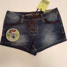 ALMOST FAMOUS WOMENS JUNIORS TIE FLY JEAN SHORTS SZ 7 NWT
