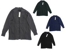 Kersh Women's Open Front Long Knit Cardigan with Pockets - Select a size/color