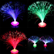 Color Changing LED Fiber Optic Night Light Lamp Stand Christmas Decoration Decor