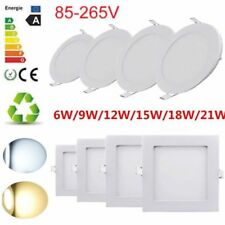 ULTRA SLIM LED CEILING PANEL LIGHT FLAT ROUND LAMP SPOT DOWNLIGHT --KITCHEN HOME