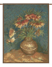 Van Gogh Lilies French Classical Woven Art Wall Hanging Home Decor Tapestry