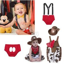 Baby Boy Kids Children Toddler Suspender Costume Outfit Set Suit Clothes 3-24M