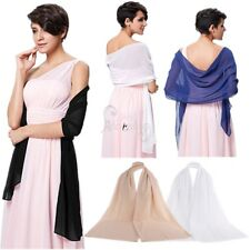 Women's Ladies Chiffon Shawl Scarf Wraps Bridal Wedding Evening Dress Cover Up